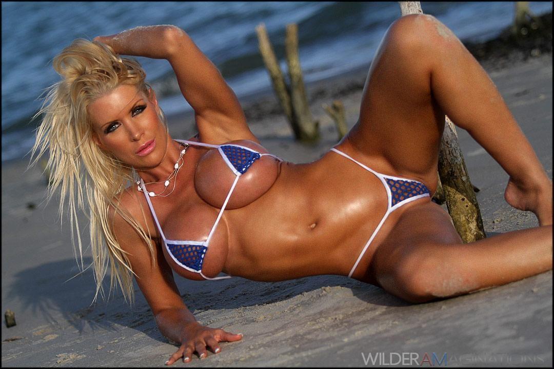 Tania Amazon In Blue Net Microkini Blonde Babes Pinterest