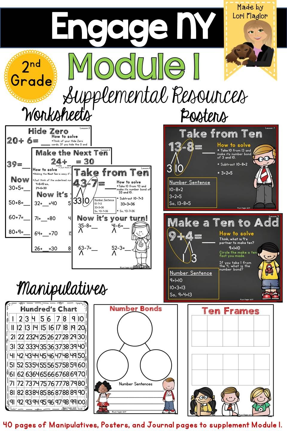 40 Pages Of Supplemental Materials To Assist Your Teaching Of Module 1 In Second Grade Contains Journal Pages Engage Ny Math 2nd Grade Math Second Grade Math [ 1440 x 960 Pixel ]