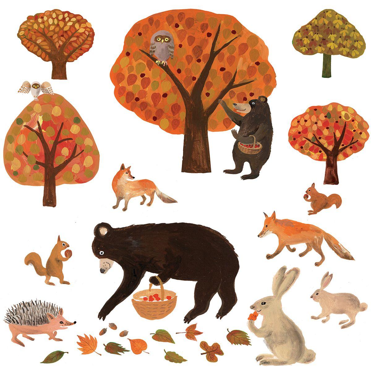 秋の動物たち1 えつこ様 第4回 Merlot コンテストテーマ Merlot