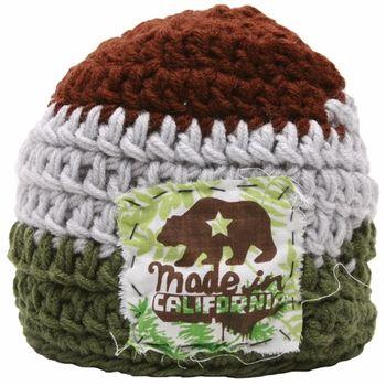f957b34bbe5 Thalia Surf - California Bear Patch - Hand Knitted Beanie