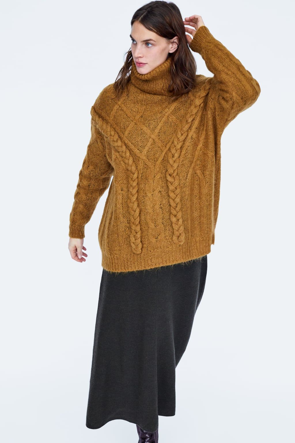 Image 6 of LIMITED EDITION CABLE-KNIT SWEATER from Zara  3367be994