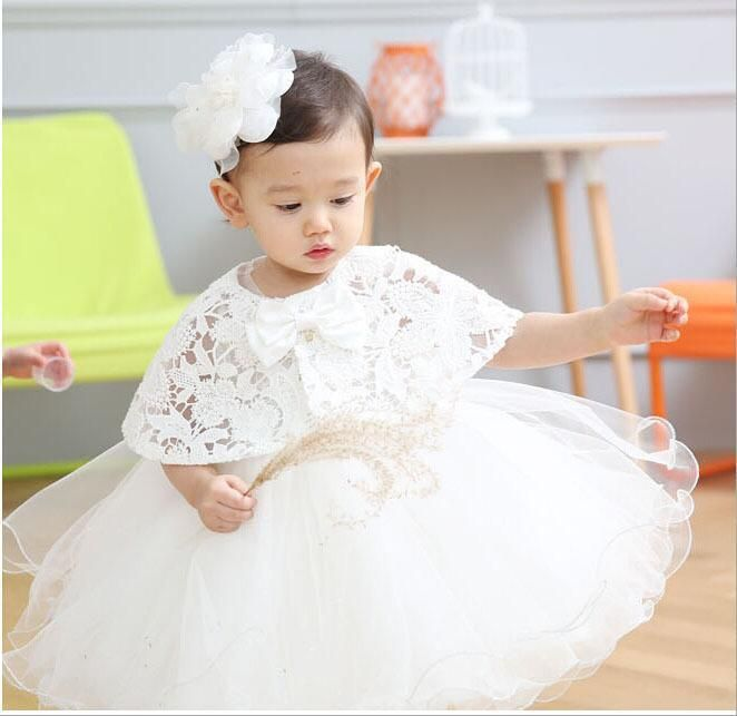 Girls Baby Baptism Dresses Christening Dress Toddler Embroidered ...
