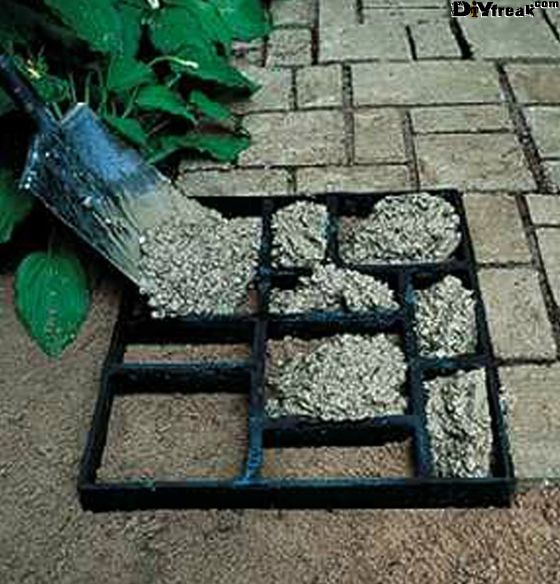 Clever Wooden Frame For Concrete Paving