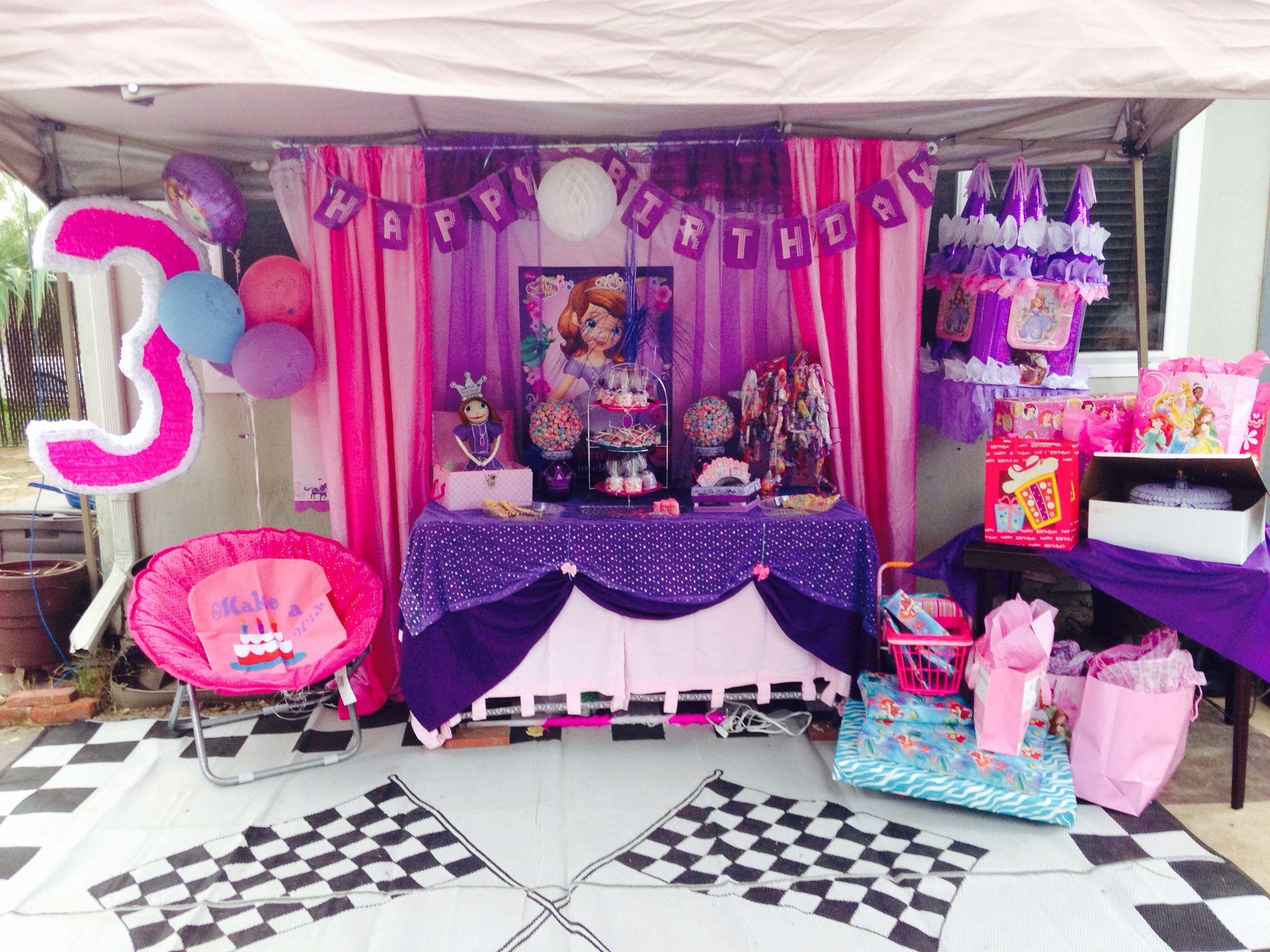Princess sofia party ideas party ideas pinterest - Ideas para fiestas infantiles en casa ...