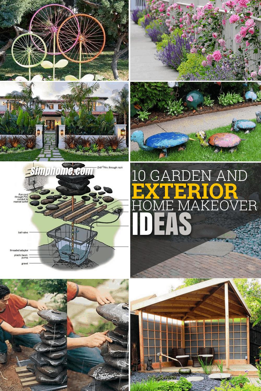 10 Garden And Exterior Home Makeover Ideas Via Simphome Long Pinterest Image Small Garden Garden Sink Diy Projects Small