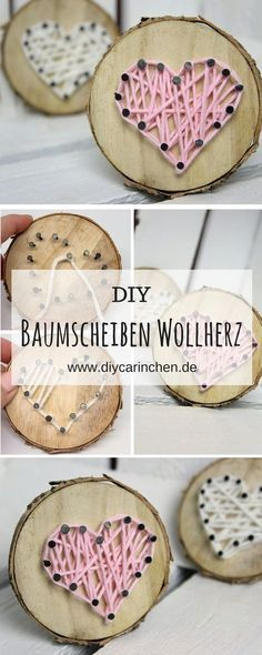 diy s es geschenk zum valentinstag baumscheibe mit herz in string art ideen f r die schule. Black Bedroom Furniture Sets. Home Design Ideas