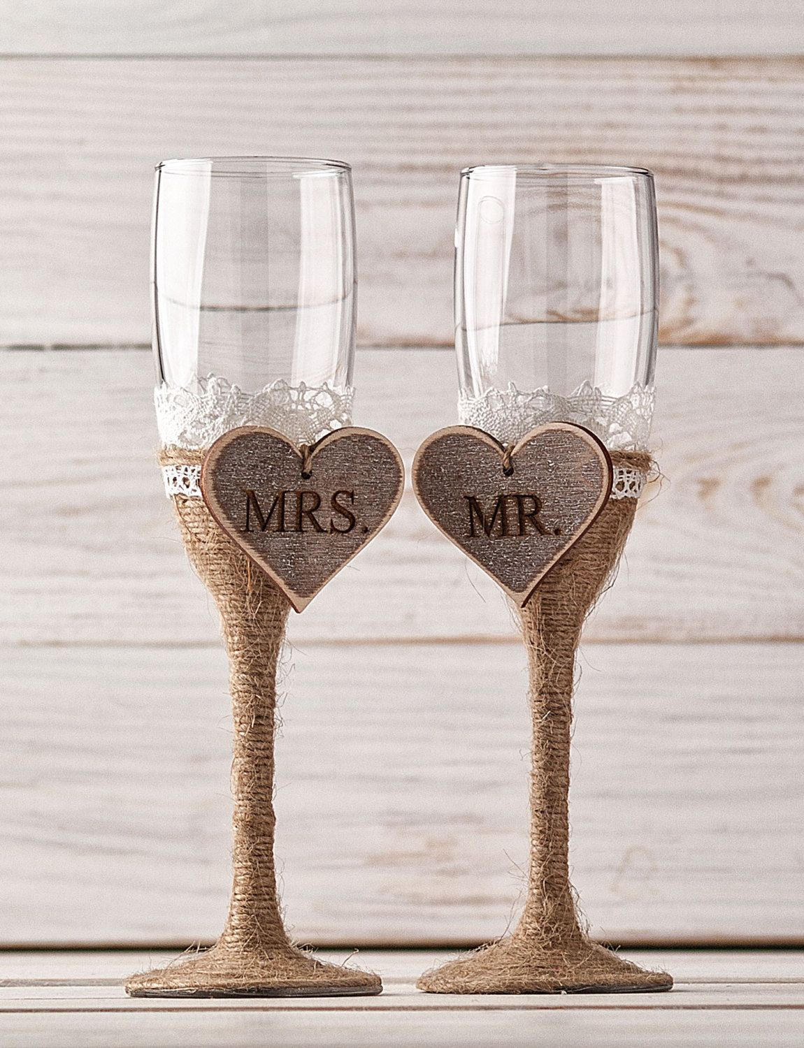 Mr And Mrs Gles Champagne Toasting Flutes Wedding Personalized Party Engagement