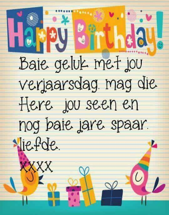 Birthday Qoutes Songs Wishes Cards Images Afrikaanse Quotes Hip Birthdays Captions
