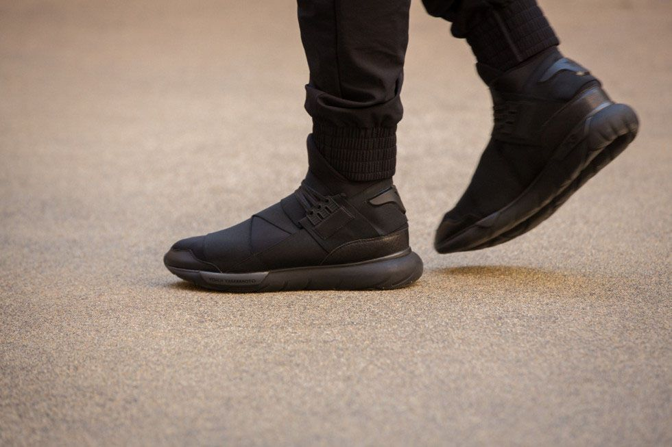 8452bd15dc6e8 Y-3 Qasa High All Black Ninja Shoes