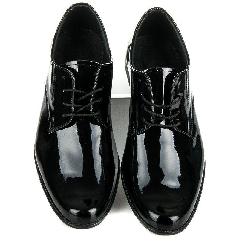 Lucca Lakierowane Buty Wizytowe Czarne Dress Shoes Men Dress Shoes Oxford Shoes