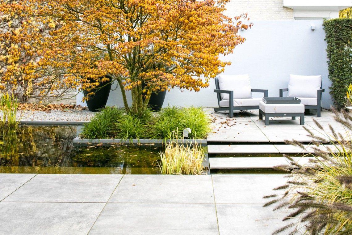 Trivium ceramics moderne watertuin eindhoven hoog