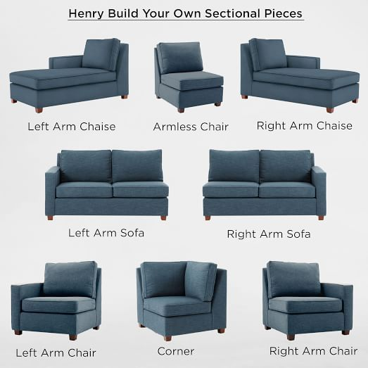 build your own henry sectional pieces 160 in 2019 basement rh pinterest com build your own leather sectional sofa