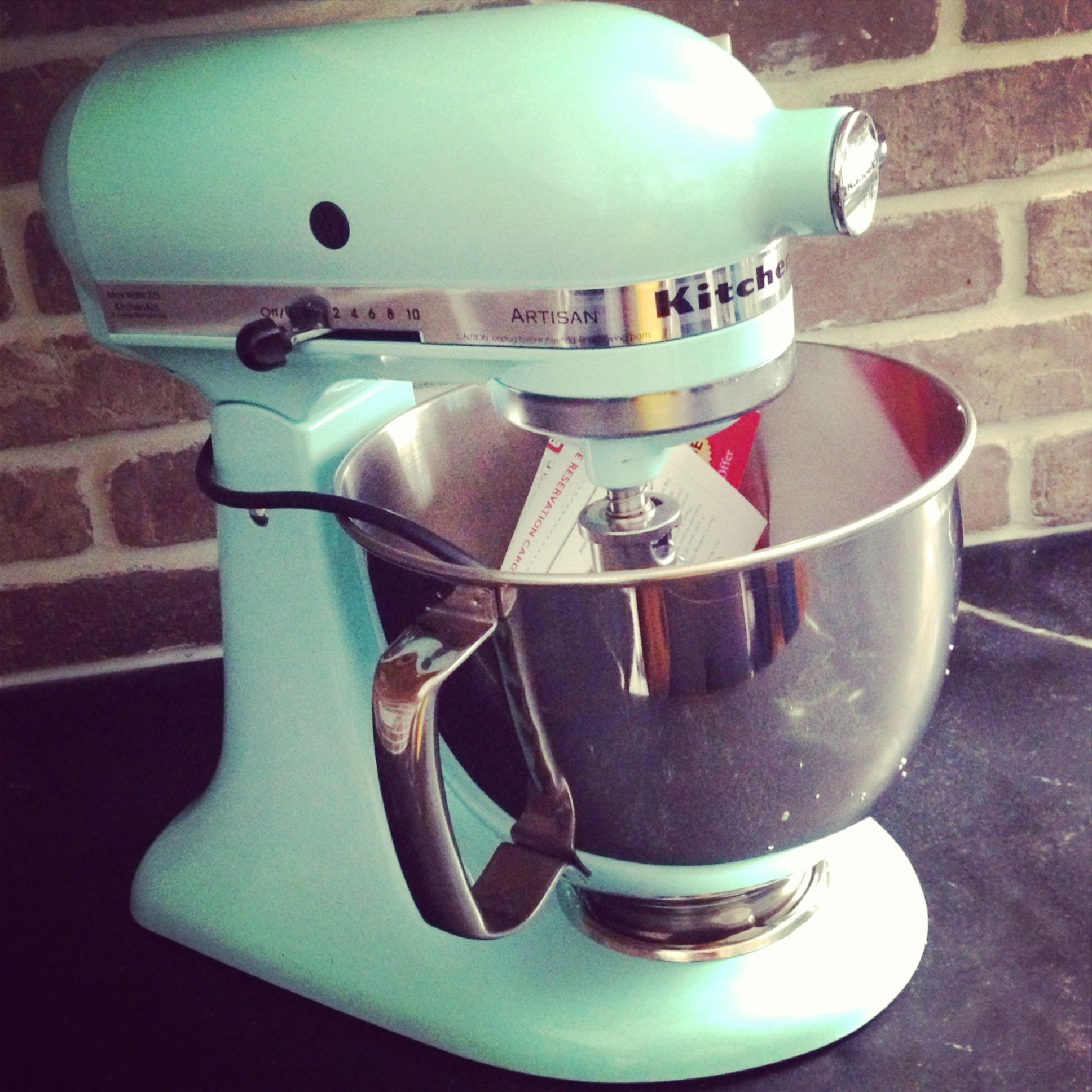 Aqua sky kitchenaid stand mixer yay turquoise kitchen
