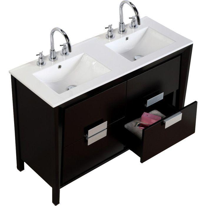 Bellaterra Home 48 Double Sink Vanity Set Reviews Wayfair Ca