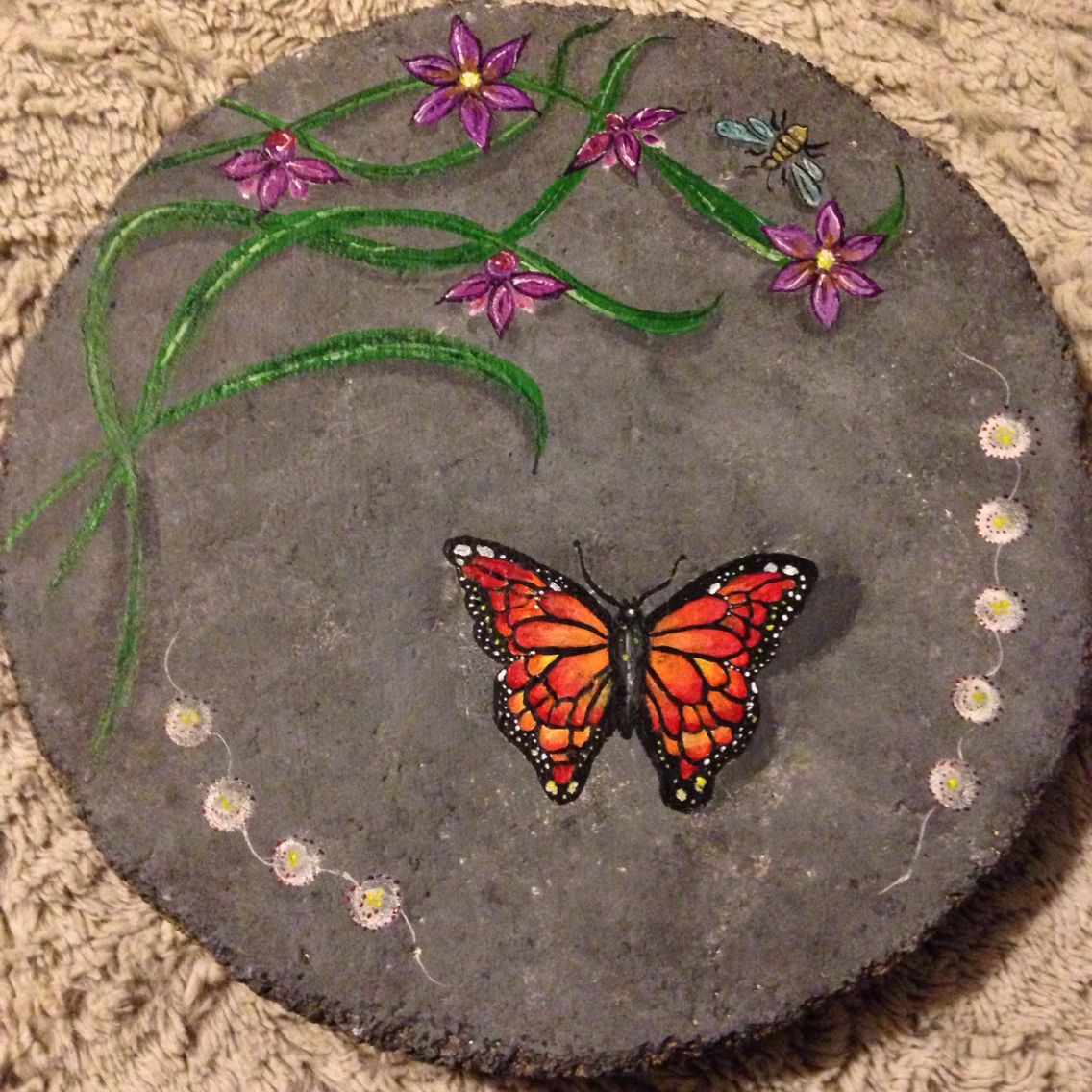 Painted Stepping Stone