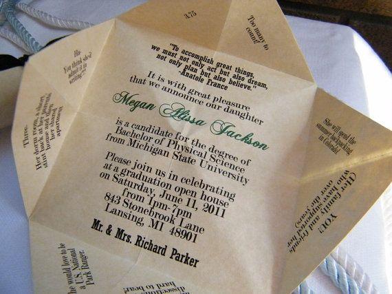 Cootie Catcher Wedding Invitation: Cootie Catcher Invitation!