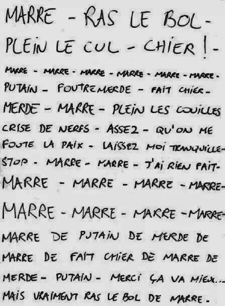 Marre Ras Le Bol Avec Images Citation Humour Phrase