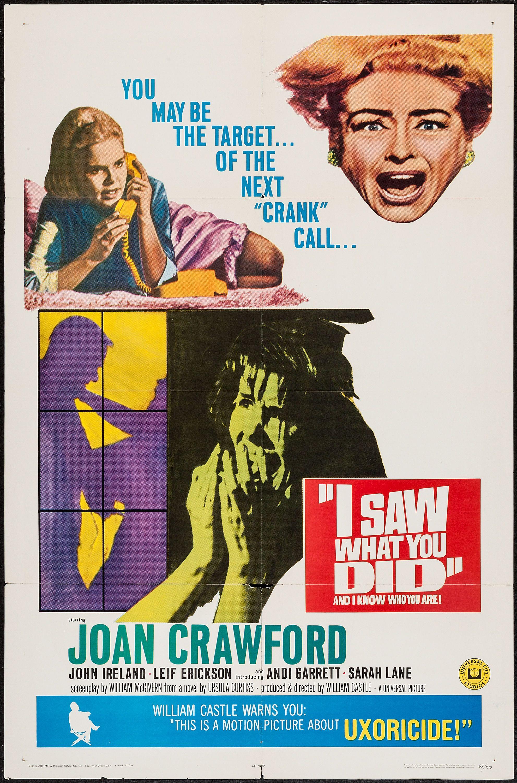 I saw what you did 1965 stars joan crawford john ireland