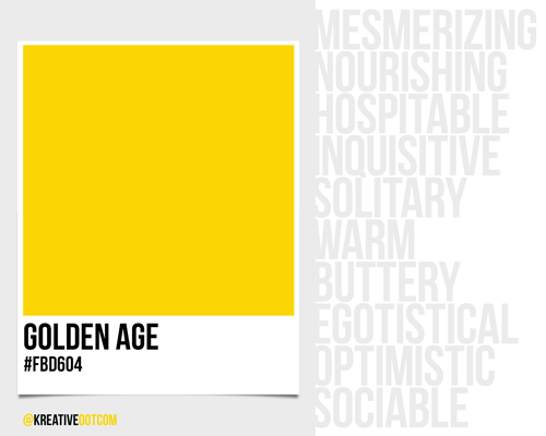 How does the color golden age fbd604 make you feel - How colors make you feel ...