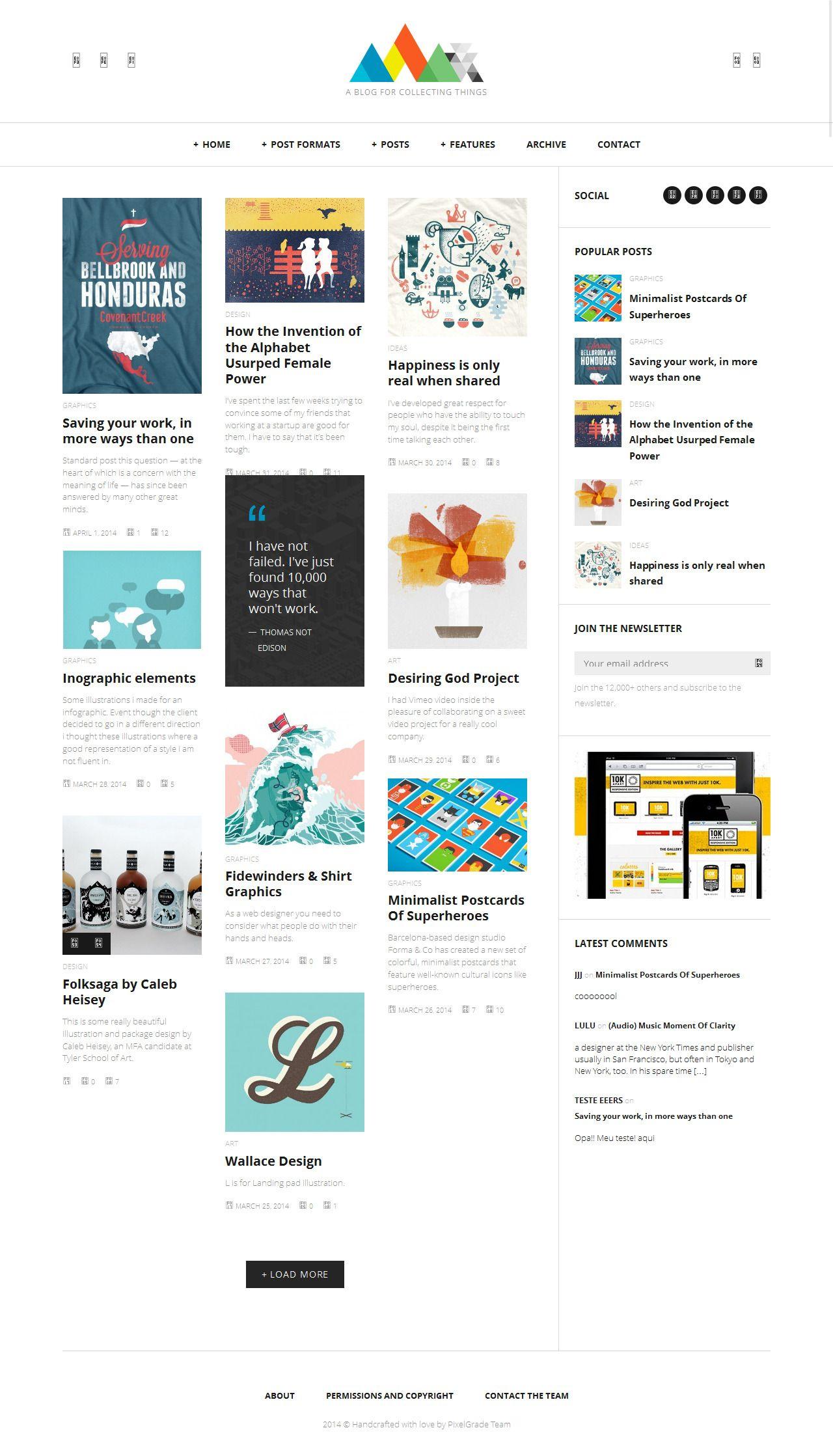 HEAP from ThemeForest - a cool wordpress theme.   Best Wordpress ...