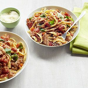 The slow cooker does most of the work in this make-ahead meal, keeping dinnertime delicious and low stress.