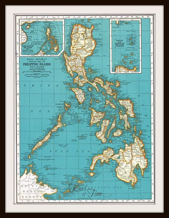 Antique Map PHILIPPINE ISLANDS PUERTO Rico Buy MapsGet - Where to buy antique maps