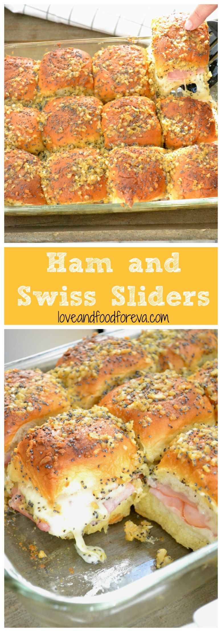 Ham and Swiss Sliders: these are a must-have at your game day party! #footballpartyfood