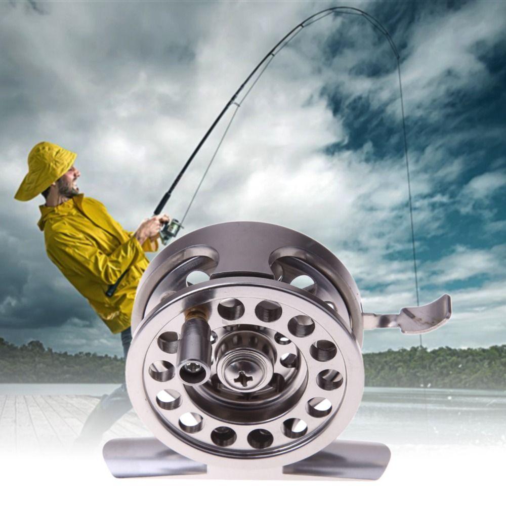 EA14 Nuovo Bobine di Pesca Bobina di Metallo Centrifuga Goccioline Turno Cuscinetti In Lega di Alluminio Ruota Pesca a Mosca