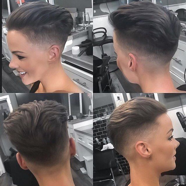 "BuzzCutFeed ✪ on Instagram: ""Fresh Pompadour Haircut By @anibyjr ���‍️ Model @heatheraustrie ��"""