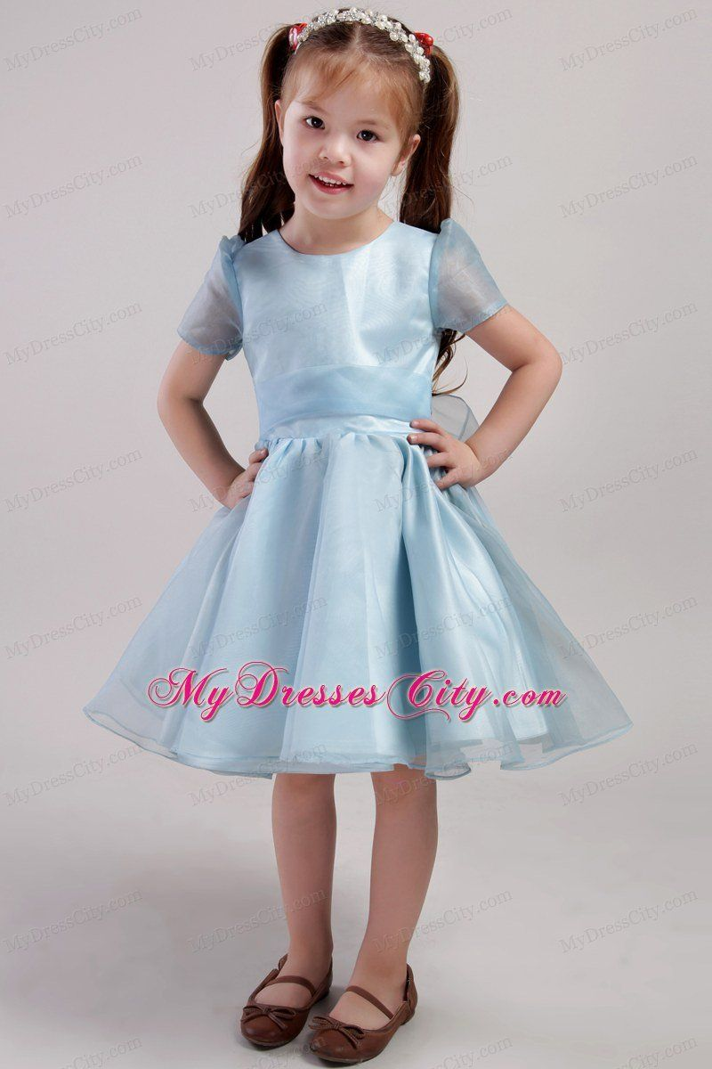 Smothery Together With Blue Knee Length Little Girl Dress Scoop ...