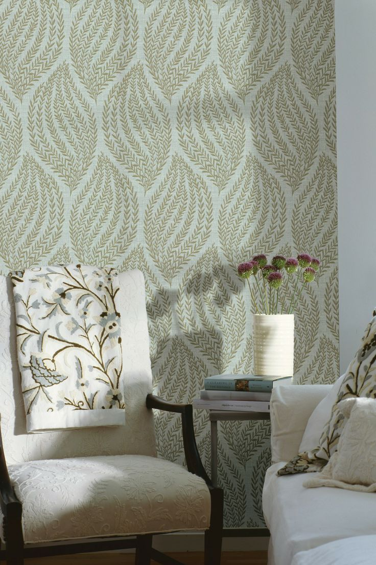Calix Sage Sienna Leaf Wallpaper Home Wallpaper Wallpaper