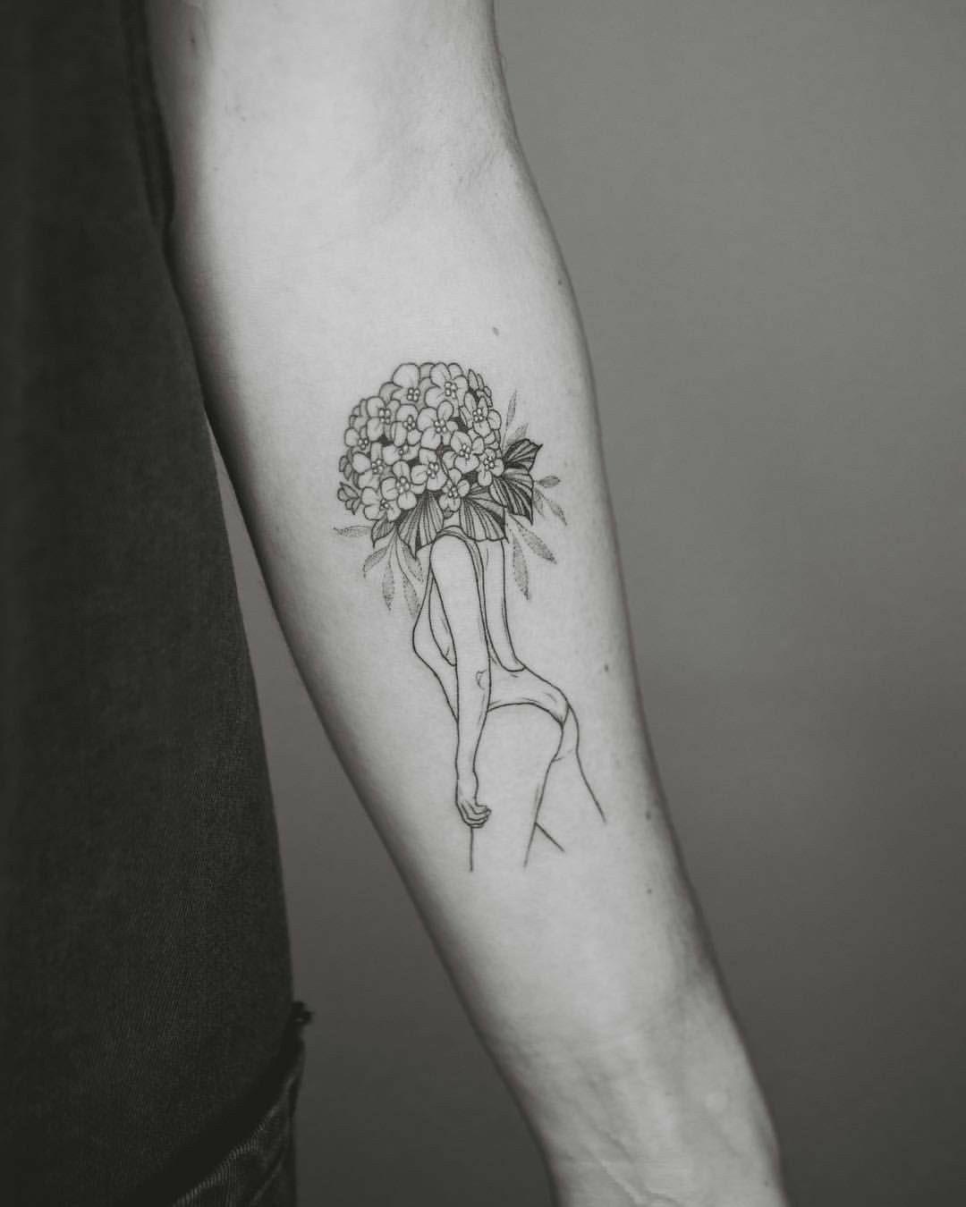 Hydrangea Tattoo Black And White Google Search Hydrangea Tattoo Tattoos Black Tattoos