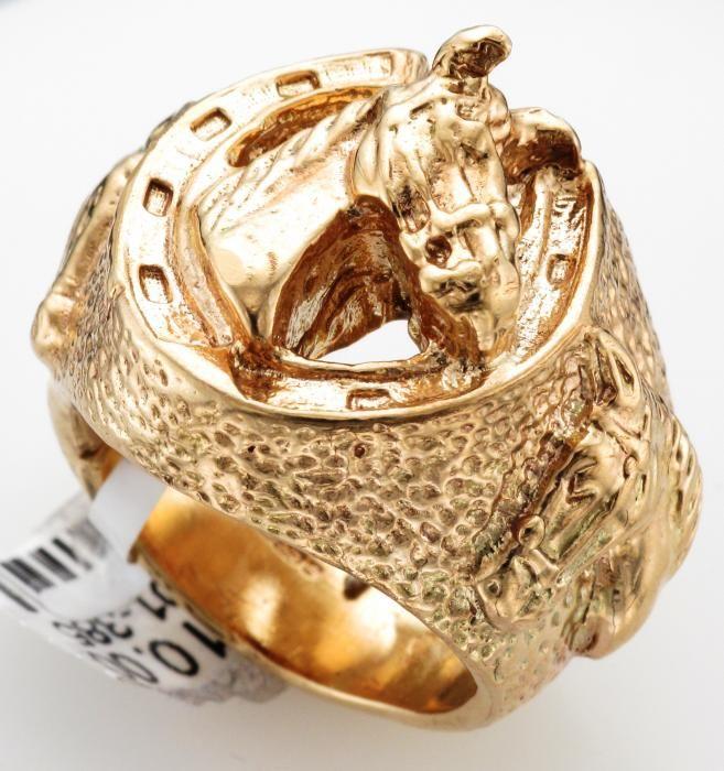 MENS 9CT GOLD HORSESHOE RING Attenborough Pawnbrokers