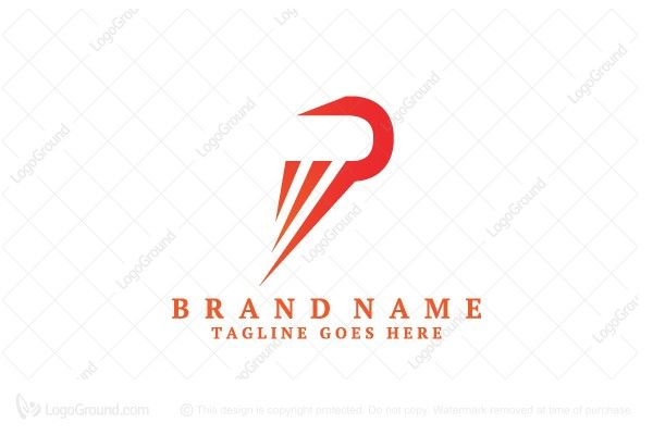 Sporty And Simple Letter P Logo For Sale Logo Is Created With