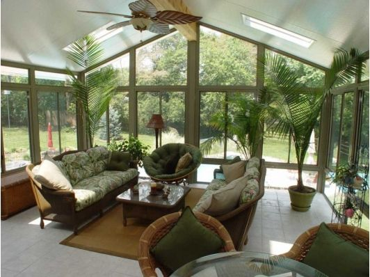 Sunroom Decorating Ideas with Plants Sun Rooms  Porches