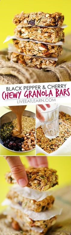 This healthy Black Pepper Cherry Granola Bars recipe is a ...