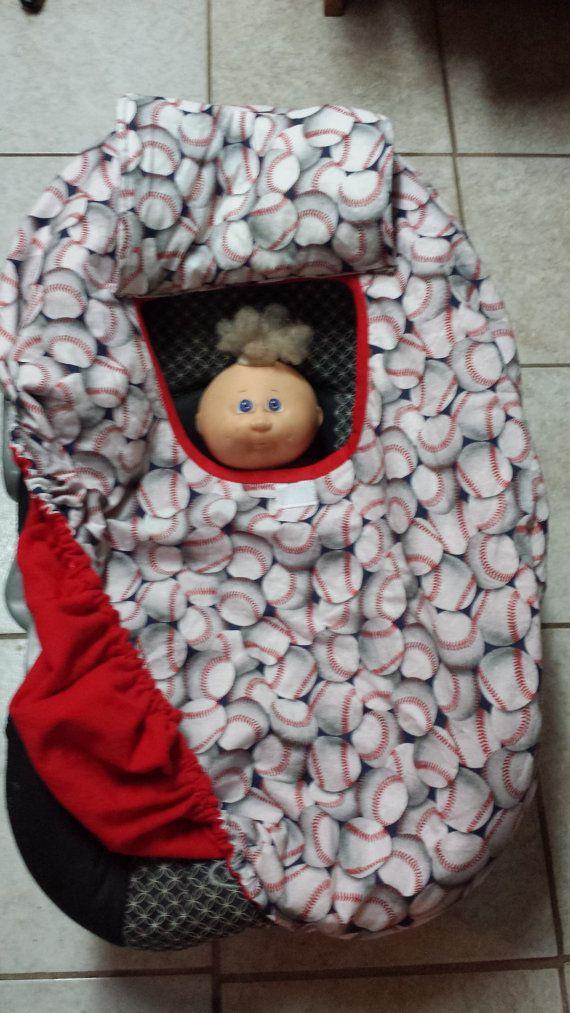 Enjoyable Baby Carrier Cozy Cover Up 4 Infant Car Seats Baseball Print Inzonedesignstudio Interior Chair Design Inzonedesignstudiocom