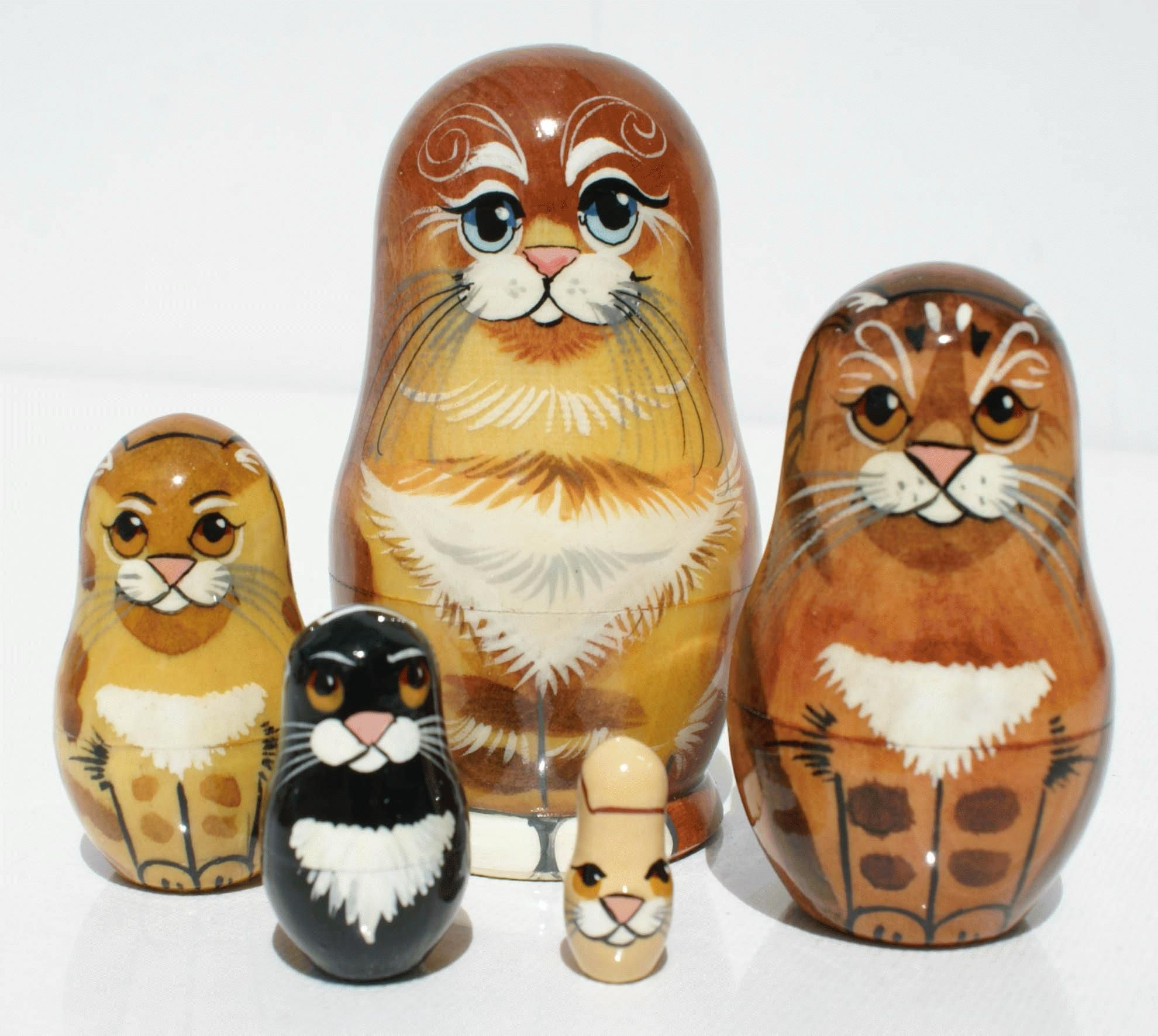 Matryoshka cat, National Crafts of Russia for Sale Dolls