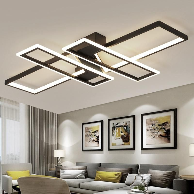 3 Colors Changeable Dimmable Square Rings Ceiling Lights For Living Room Bedroom Home Ceiling Lights Bedroom Ceiling Light Decorative Ceiling Lights