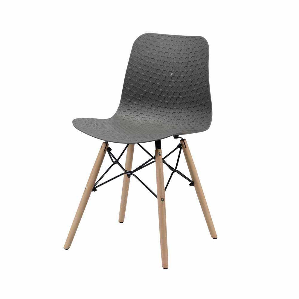 Stuhl in Grau Kunststoff Eiche Massivholz (4er Set) Jetzt bestellen ...