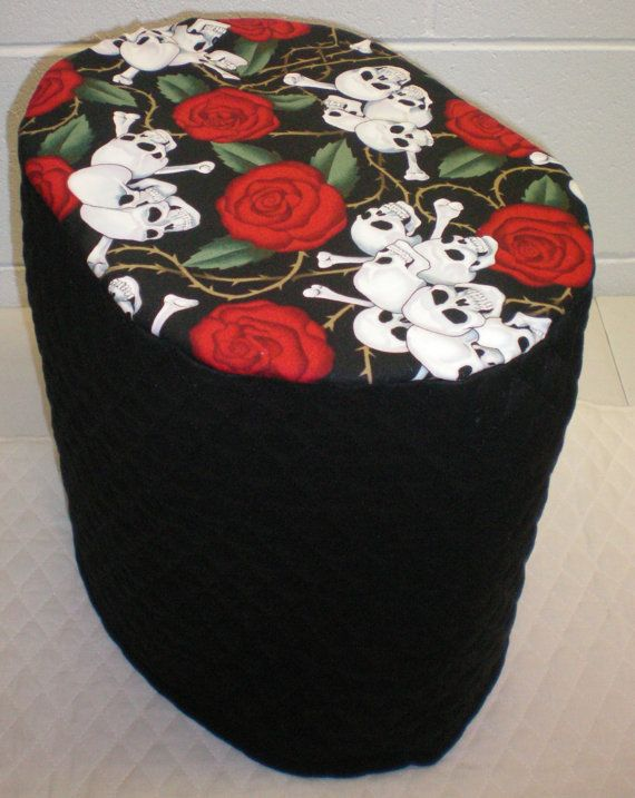 Black Quilted Skull & Roses Cover for K45 Elite, B60 and K65 Special Edition  Keurig Coffee Maker