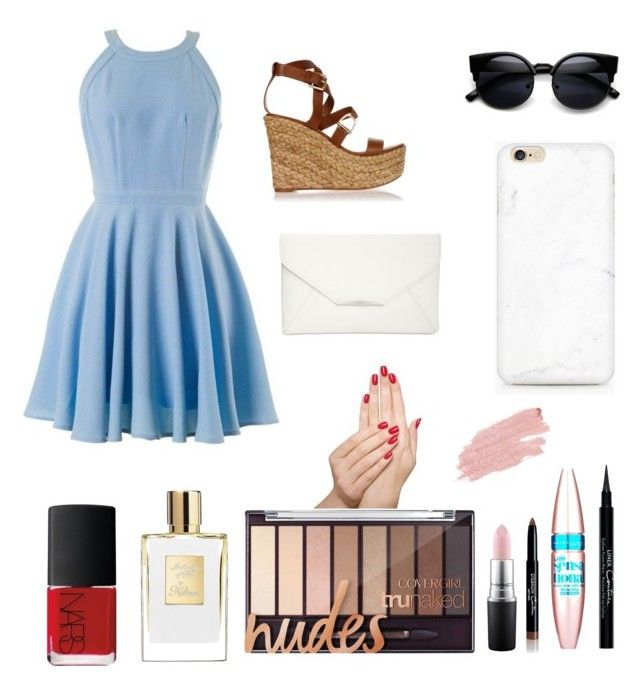 """Untitled #135"" by claire394 ❤ liked on Polyvore featuring Ralph Lauren, Style & Co., Givenchy, Maybelline, MAC Cosmetics, Piggy Paint, Jane Iredale and NARS Cosmetics"