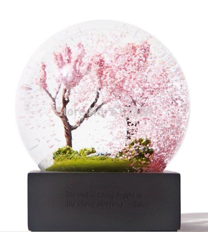 Cherry Blossom Snow Globe Snow Globes Diy Snow Globe