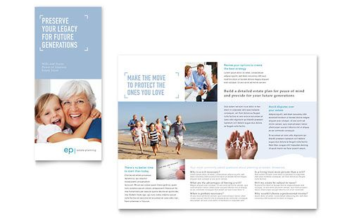 Estate Planning Tri Fold Brochure Template by @StockLayouts - diabetes brochure template