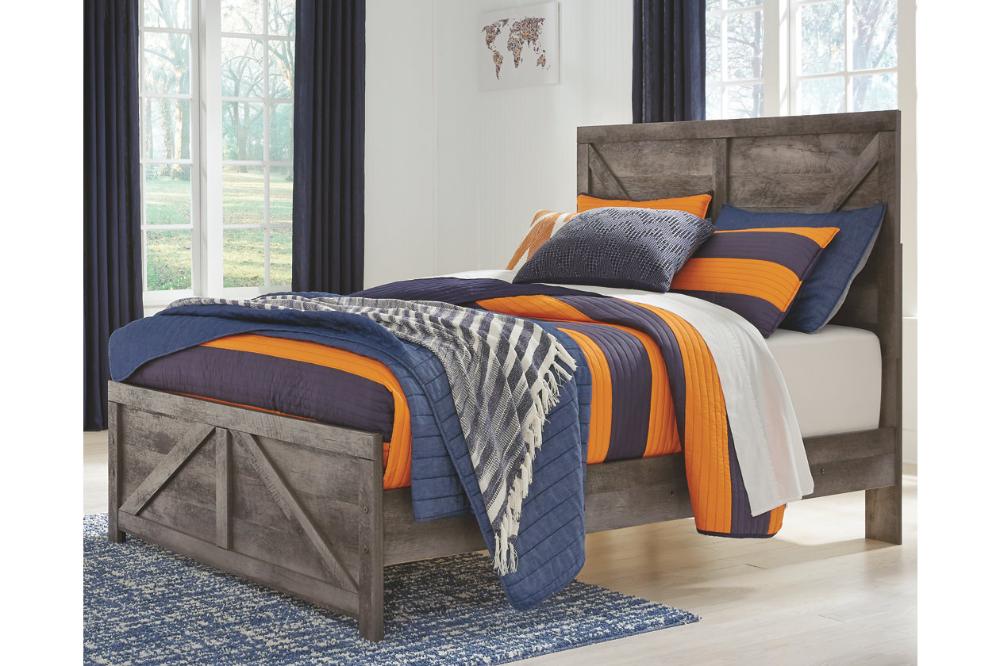 Wynnlow Queen Crossbuck Panel Bed Panel bed, Queen bed