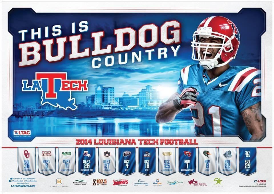 2014 Football Schedule Poster 2 unveiled! BulldogCountry
