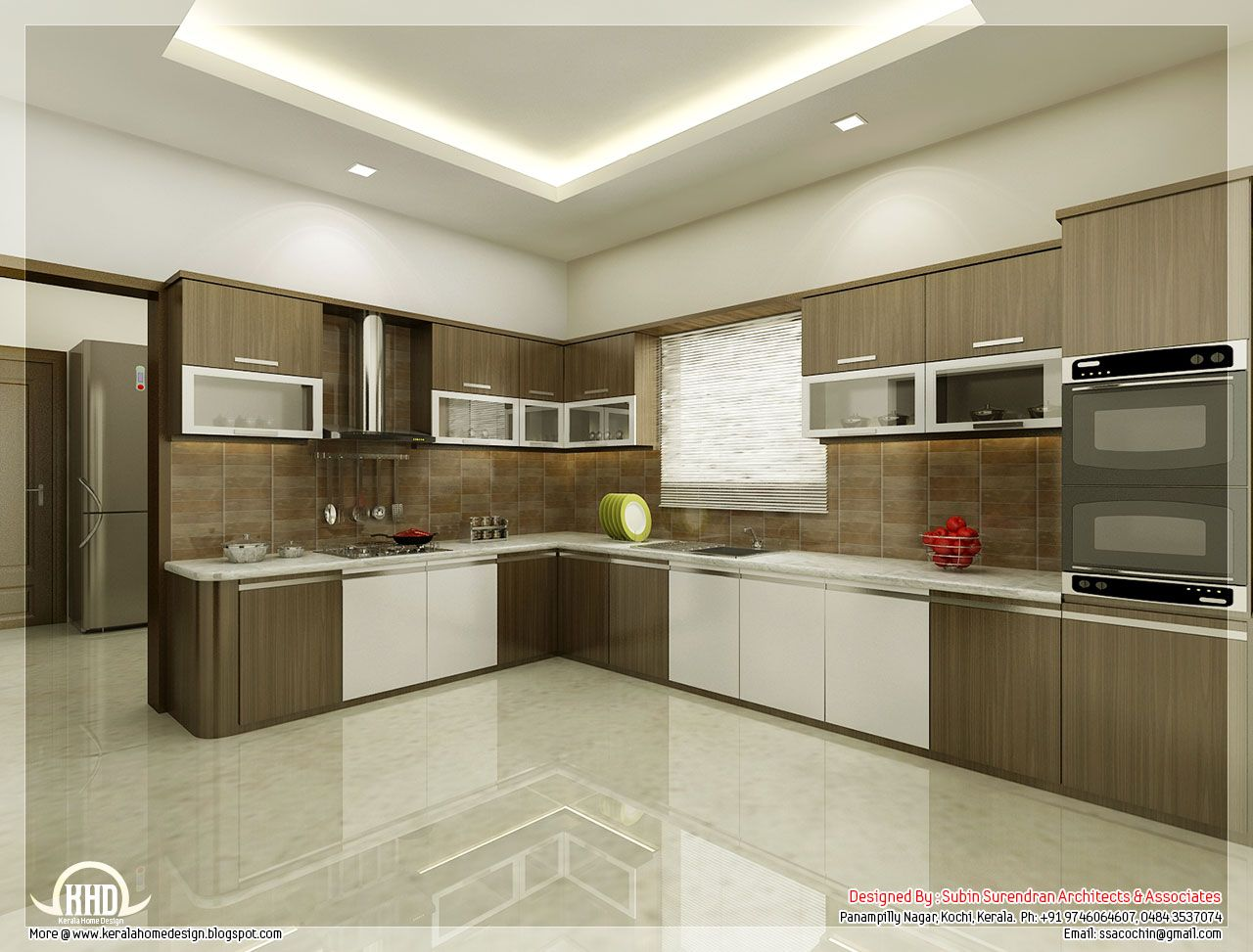 Best Kitchen Dining Interiors Kerala Home Design Floor Plans 400 x 300