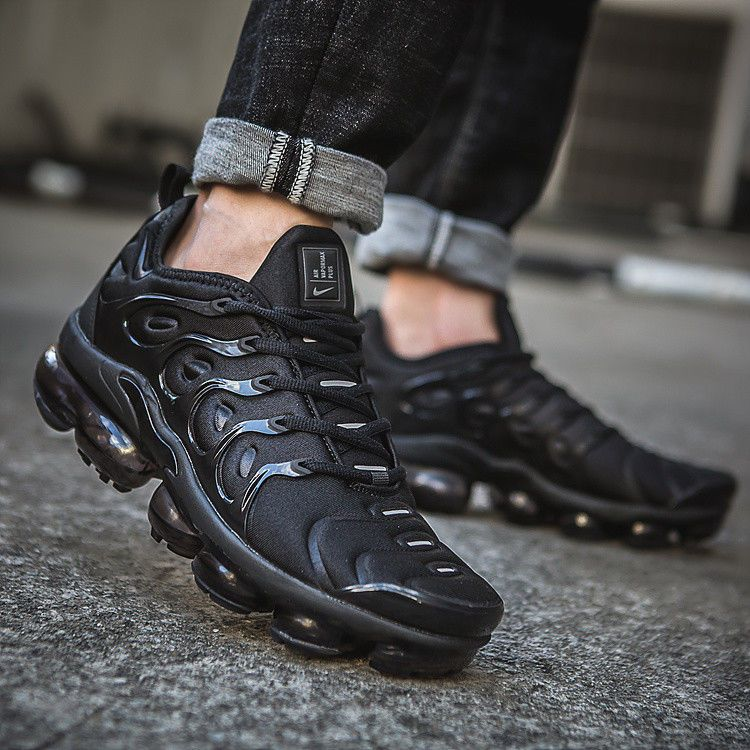 336dedb31056 Nike Air Vapormax Plus TN Black Running Shoes Movement Fitness City Trail   fashion  clothing  shoes  accessories  mensshoes  athleticshoes (ebay link)