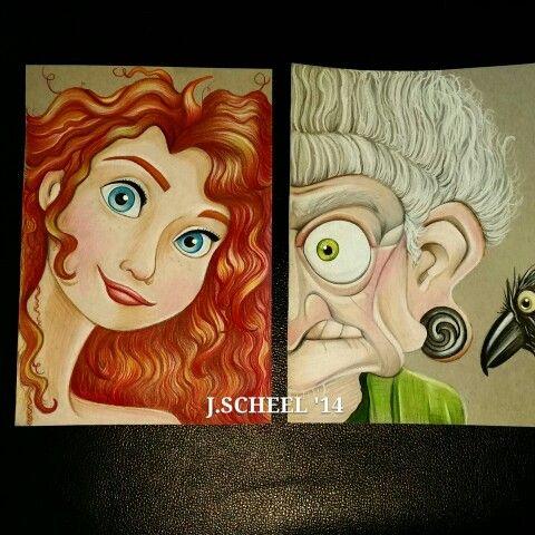 Princess/villain brave Merida/creepy old witch