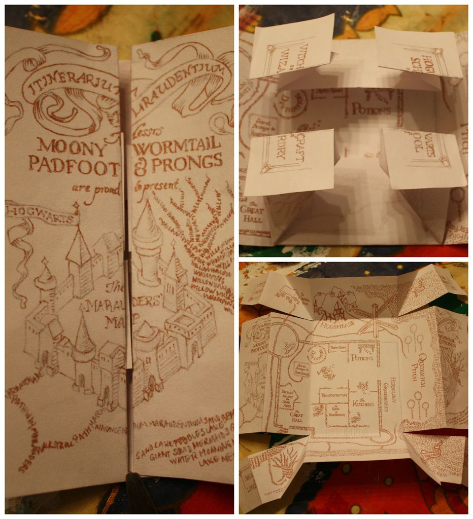The marauders map pinterest pdf originals and harry potter click through for pdf pattern and instructions not original to instructables gumiabroncs Image collections
